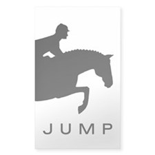 """JUMP"" Hunter Jumper Rectangle Decal"