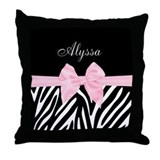 Zebra print Throw Pillows