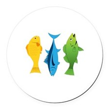 Fish Round Car Magnet