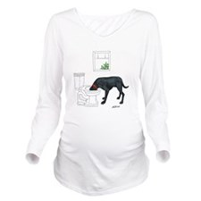 Drink Four Liters Long Sleeve Maternity T-Shirt