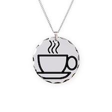 Mug Necklace Circle Charm