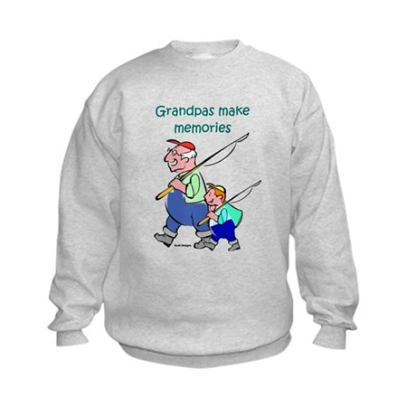 Grandpas Make Memories Kids Sweatshirt