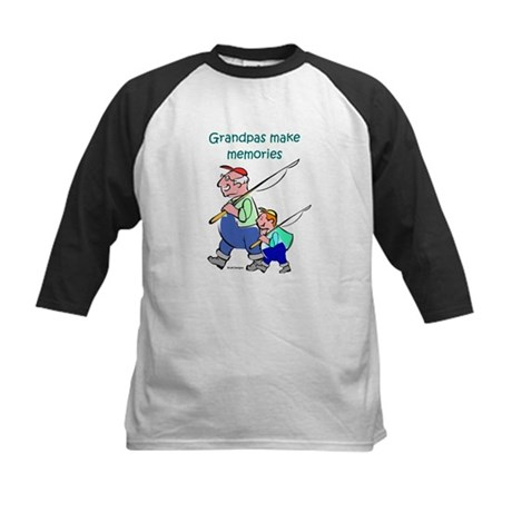 Grandpas Make Memories Kids Baseball Jersey