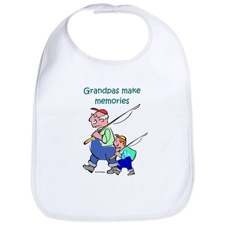 Grandpas Make Memories Bib