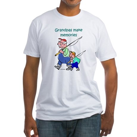 Grandpas Make Memories Fitted T-Shirt