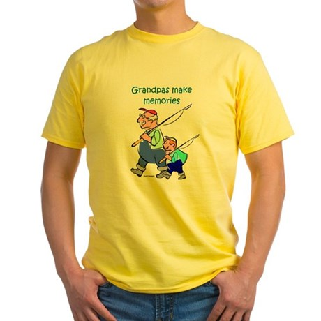 Grandpas Make Memories Yellow T-Shirt