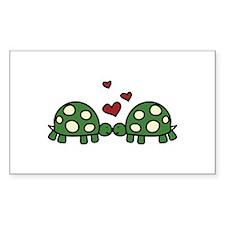 Love Turtles Decal