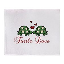 Turtle Love Throw Blanket