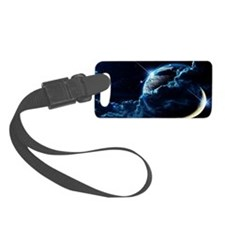 Earth And Moon Luggage Tag