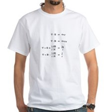 Maxwell Equations T-Shirt (white)