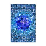 Optical Illusion Sphere - Blue Mini Poster Print