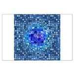 Optical Illusion Sphere - Blue Large Poster