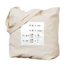 Maxwell & Schrodinger Equations Tote Bag