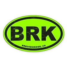 Breck Ink Block Lime Sticker (oval)