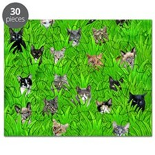 Cats in Grass Puzzle