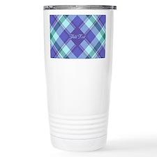 Spring Lilac Plaid Travel Mug