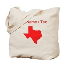 Custom Red Texas Silhouette Tote Bag