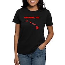 Custom Red Hawaii Silhouette T-Shirt