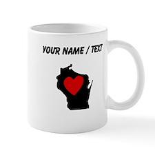 Custom Wisconsin Heart Mugs