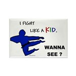Fight Like A Kid Rectangle Magnet (100 pack)
