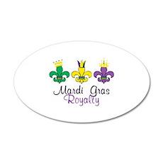 Mardi Gras Royalty Wall Decal