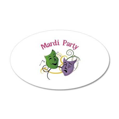 Mardi Party Wall Decal
