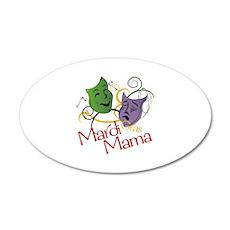 Mardi Gras Mama Wall Decal