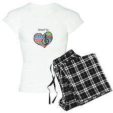 Customizable Music Heart Tr Pajamas