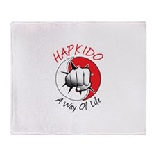 Hapkido A Way of Life Throw Blanket