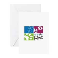 Wipe Your Paws Greeting Cards