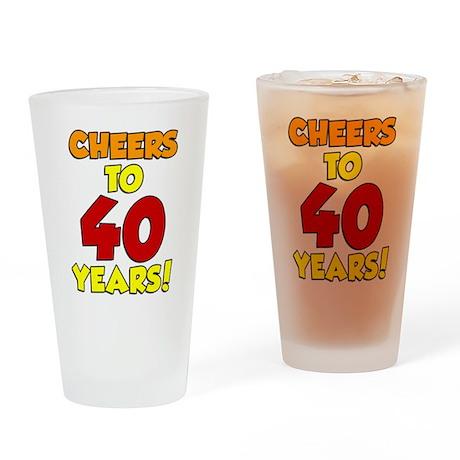 Cheers To 40 Years Drinkware Drinking Glass