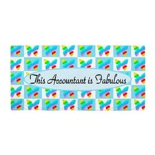 Blue Accountant Beach Towel