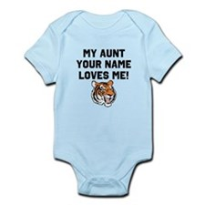 My Aunt (Your Name) Loves Me Tiger Body Suit