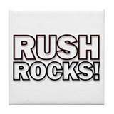 """RUSH ROCKS!"" Tile Coaster"