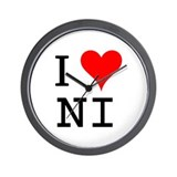I Love NI Wall Clock