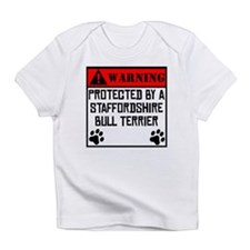 Protected By A Staffordshire Bull Terrier Infant T