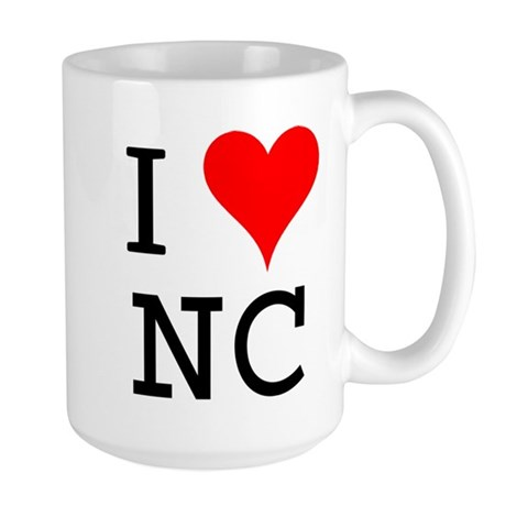 I Love NC Large Mug