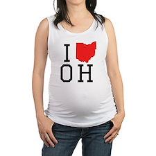 I Heart Ohio Maternity Tank Top