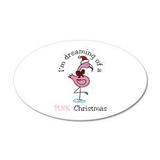 Pink Christmas Wall Decal