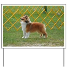 Sheltie at Attention Yard Sign