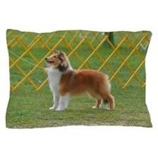 Sheltie at Attention Pillow Case