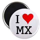 "I Love MX 2.25"" Magnet (100 pack)"