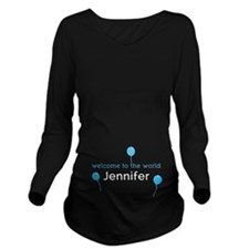 Funny Jennifer Long Sleeve Maternity T-Shirt