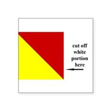 "Funny Sailing flag Square Sticker 3"" x 3"""