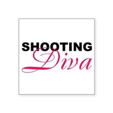 "Cute Pink diva Square Sticker 3"" x 3"""