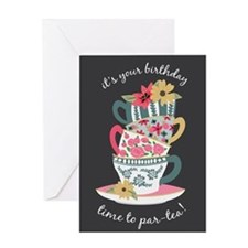 Tea Time Birthday Greeting Cards