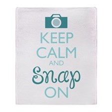 Keep Calm And Snap On Throw Blanket