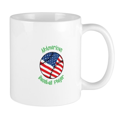 All-American Baseball Player Mugs
