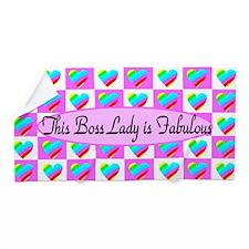 Boss Lady Love Beach Towel