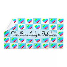 Boss Lady Hearts Beach Towel